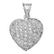 18ct white Gold 0.74ct Diamond set cross pendant